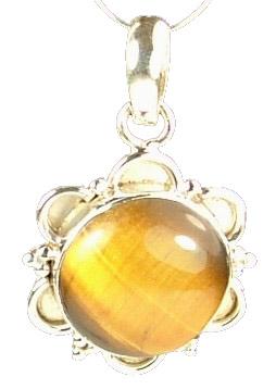 Design 714: brown,yellow tiger eye pendants