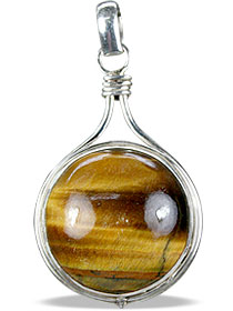 Design 725: brown tiger eye pendants