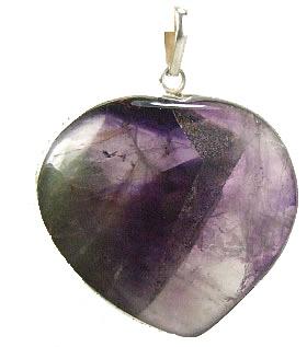 Design 7261: purple amethyst heart pendants