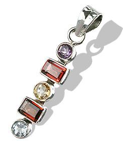 Design 7286: multi-color garnet pendants