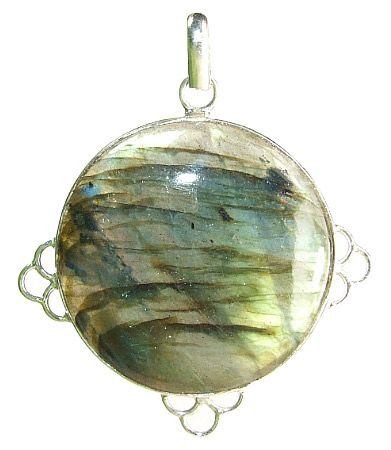 Design 7336: green,gray labradorite pendants
