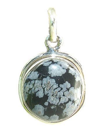 Design 7354: black obsidian pendants