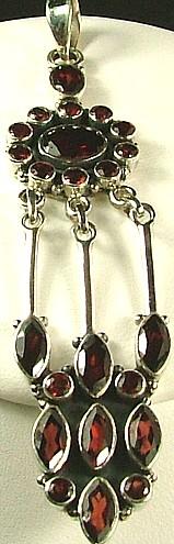 Design 752: red garnet pendants