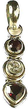 Design 757: red garnet pendants