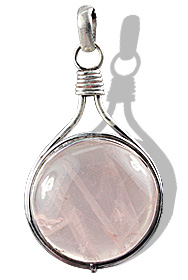 Design 760: pink rose quartz pendants