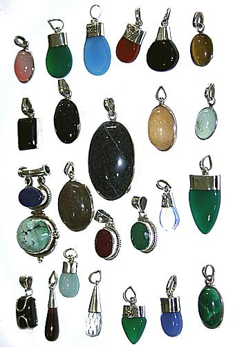 Design 7647: Brown, Purple, Green bulk lots pendants