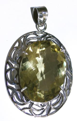 Design 7678: yellow lemon quartz pendants