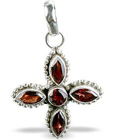 Design 7686: red garnet pendants