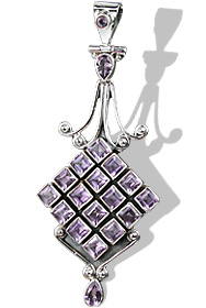 Design 8042: purple amethyst pendants
