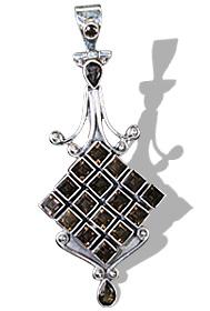 Design 8043: brown smoky quartz pendants