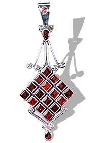 Design 8045: red garnet pendants