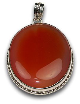 Design 8350: orange onyx pendants