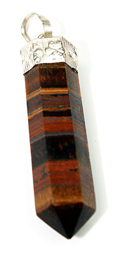 Design 8418: brown tiger eye pencil pendants