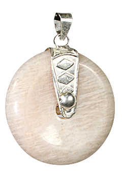 Design 8425: white moonstone donut pendants
