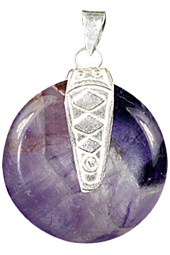 Design 8431: purple amethyst donut pendants