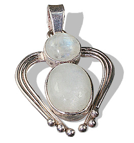 Design 8496: white moonstone art-deco, christian, gothic-medieval, heart pendants