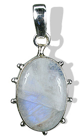 Design 8499: blue,white moonstone gothic-medieval pendants