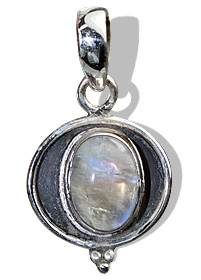 Design 8500: white moonstone pendants