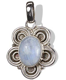 Design 8503: white moonstone flower pendants