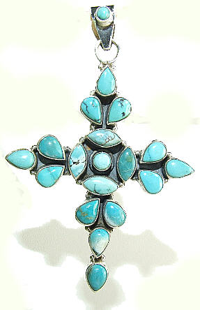 Design 8512: blue,green turquoise christian pendants