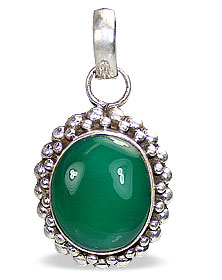 Design 8817: green onyx pendants