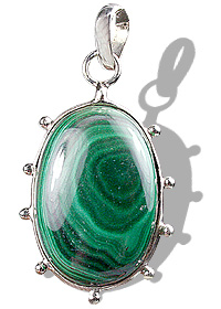 Design 8822: green malachite pendants