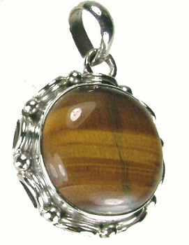 Design 8917: brown tiger eye mens pendants
