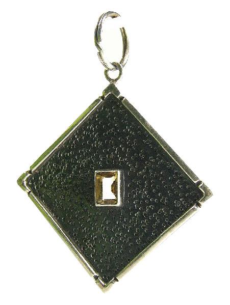 Design 8935: yellow citrine pendants