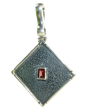 Design 8936: red garnet pendants