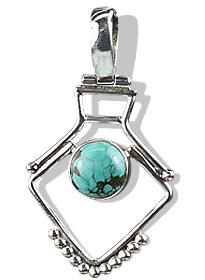 Design 8938: blue,brown,green turquoise pendants