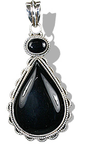 Design 896: black onyx drop pendants