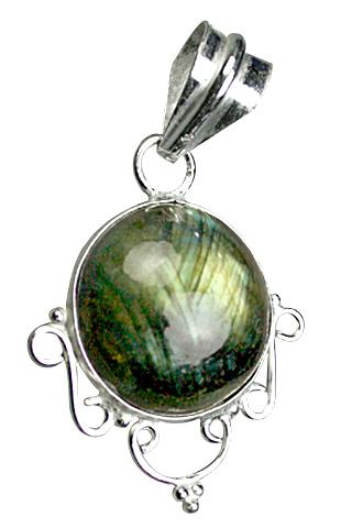 Design 9096: green labradorite pendants