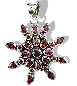 Design 974: red garnet pendants
