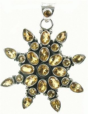 Design 975: yellow citrine pendants