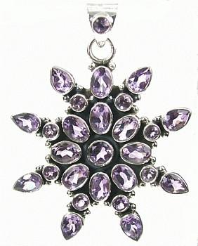 Design 976: purple amethyst star pendants