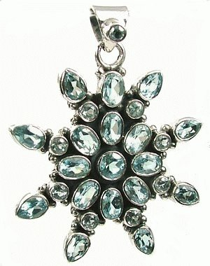 Design 977: blue blue topaz pendants