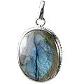 Design 1059: green labradorite art-deco pendants
