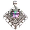 Design 5084: multi-color mystic quartz pendants