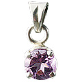 Design 618: purple amethyst solitaires pendants