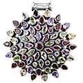 Design 7682: purple,red,multi-color amethyst pendants