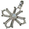 Design 8488: white moonstone cross pendants
