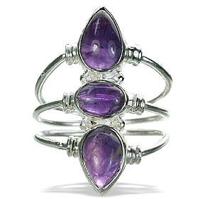 Design 1235: purple amethyst classic rings