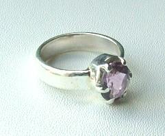 Design 1238: purple amethyst rings