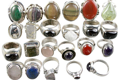 Design 13607: multi-color bulk lots rings