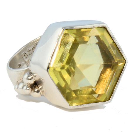 Design 18870: yellow lemon quartz rings