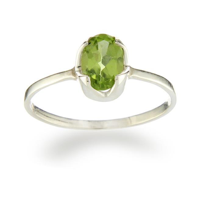 Design 20952: green peridot rings