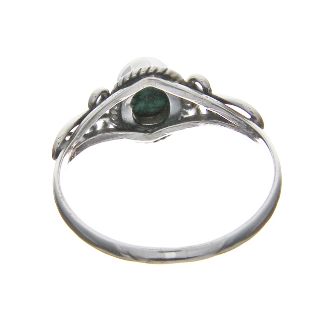 Design 20954: green malachite rings