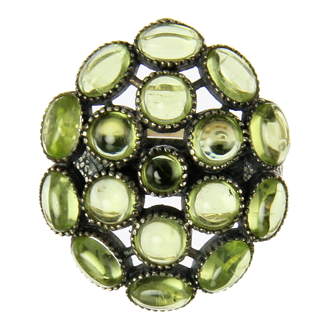 Design 20958: green peridot rings