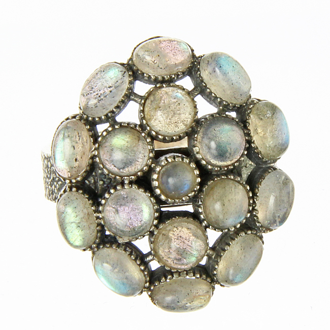 Design 20960: green labradorite rings