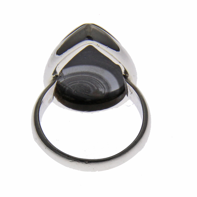 Design 21195: black agate rings